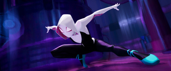 Spider-Gwen (Hailee Steinfeld) in SPIDER-MAN: UN NUOVO UNIVERSO (Columbia Pictures e Sony Pictures Animation)